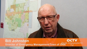 Bill Johnston, Director of Emergency Management for the Town of Olds