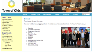 Olds Town Council - Web Page