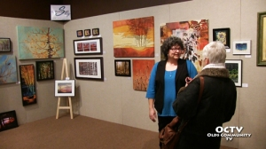 Theresa Potter - Cottonwood Sky art exhibit in Olds Alberta