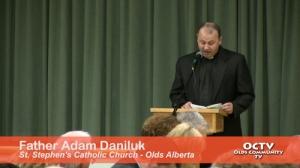 Father Adam Daniluk, St. Stephen's Catholic Church Olds